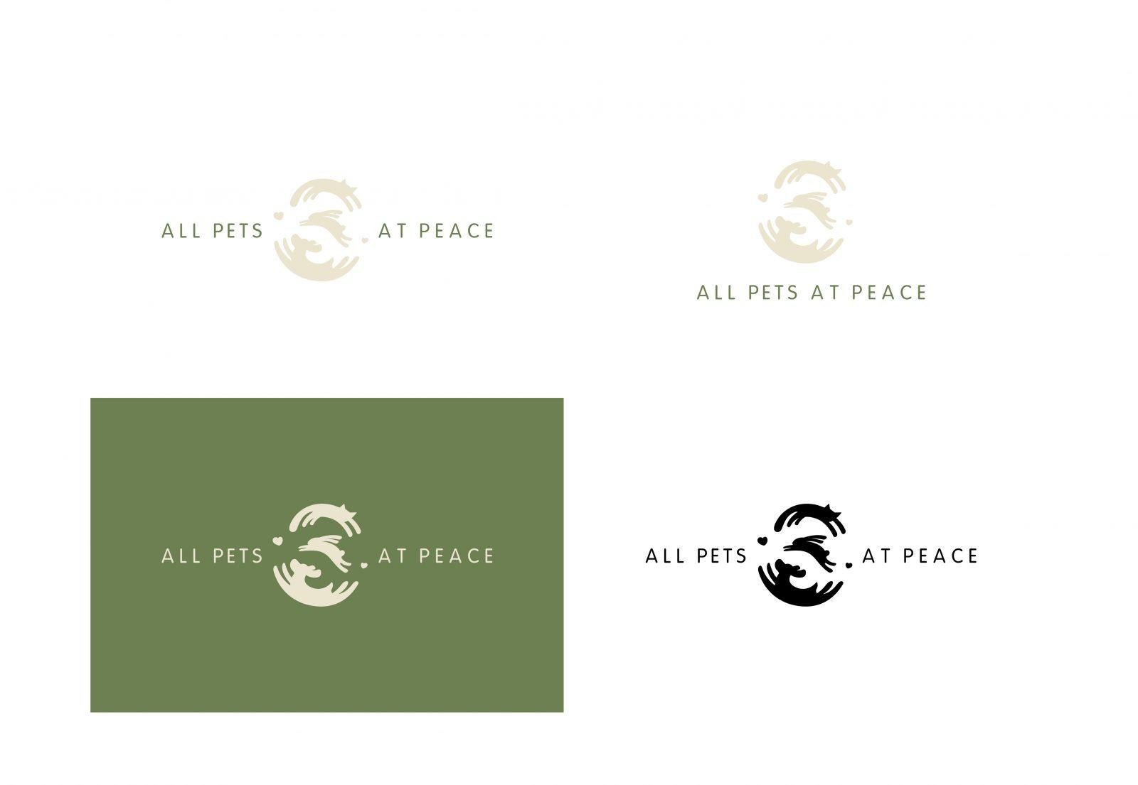 All Pets at Peace Logo variants