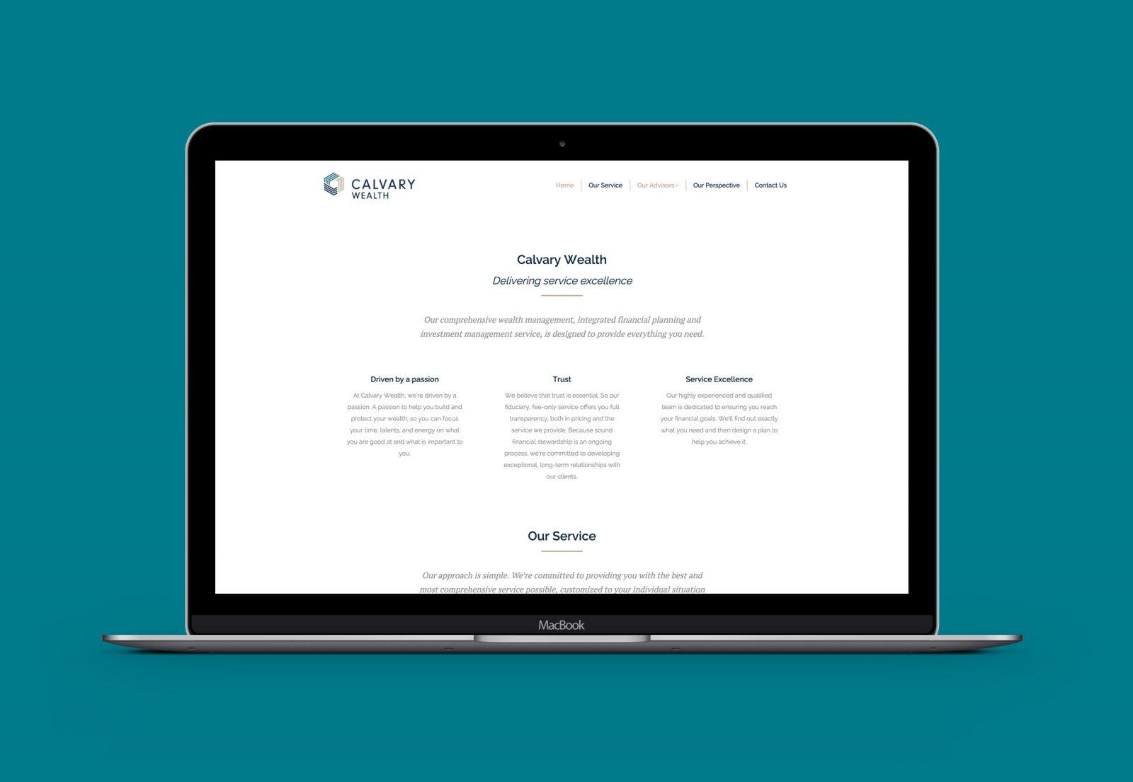 Calvary Wealth Homepage Website Design