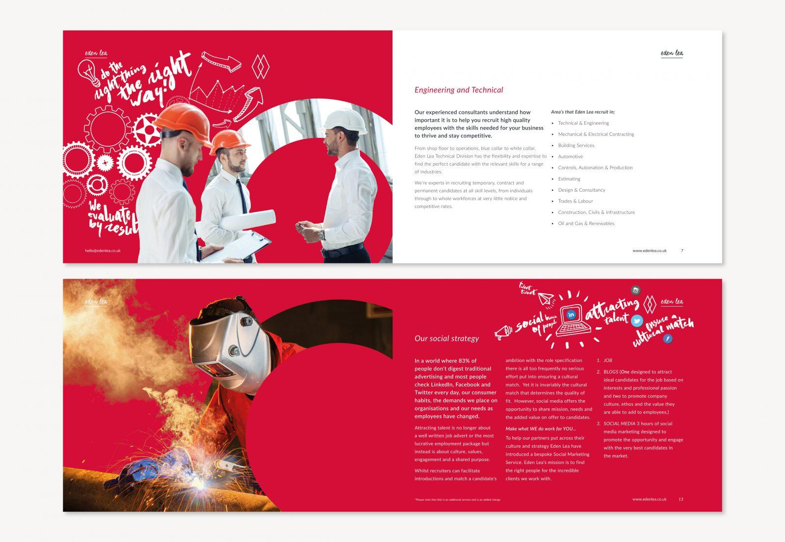 Eden Lea Recruitment Corporate Brochure Designs