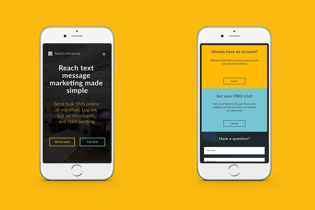 Reach Interactive Mobile Screens