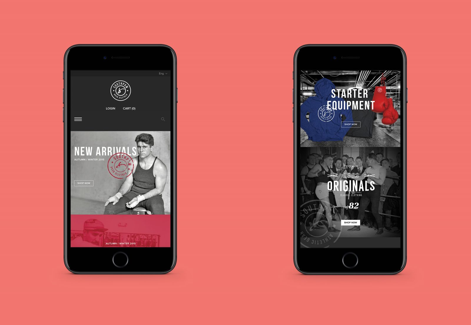 Southpaw Athletic Gear Mobile First Digital Design