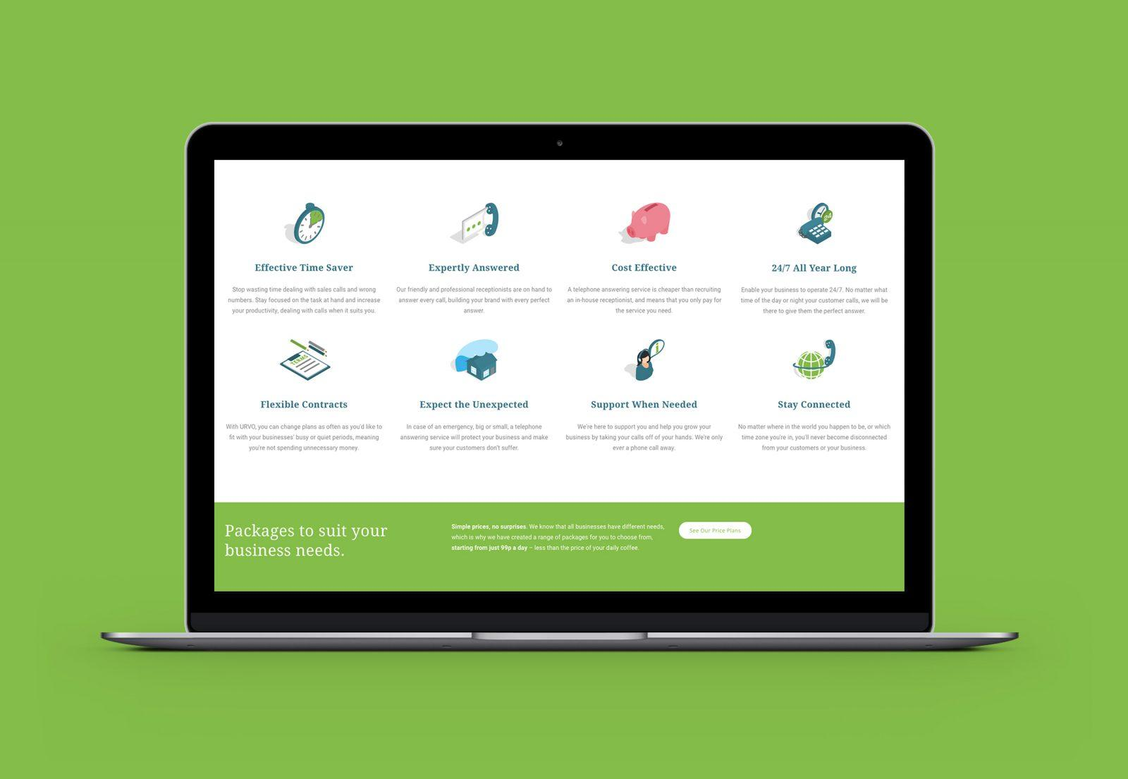 URVO Bespoke Website Homepage Graphics