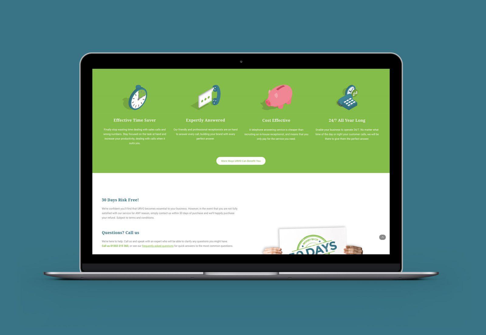 Homepage Bespoke Website Design